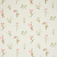 Country Flowers Fabric - Ivory/Pink