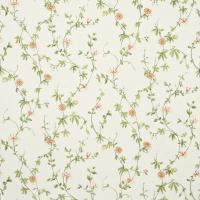 Passion Flower Fabric - Ivory/Pink