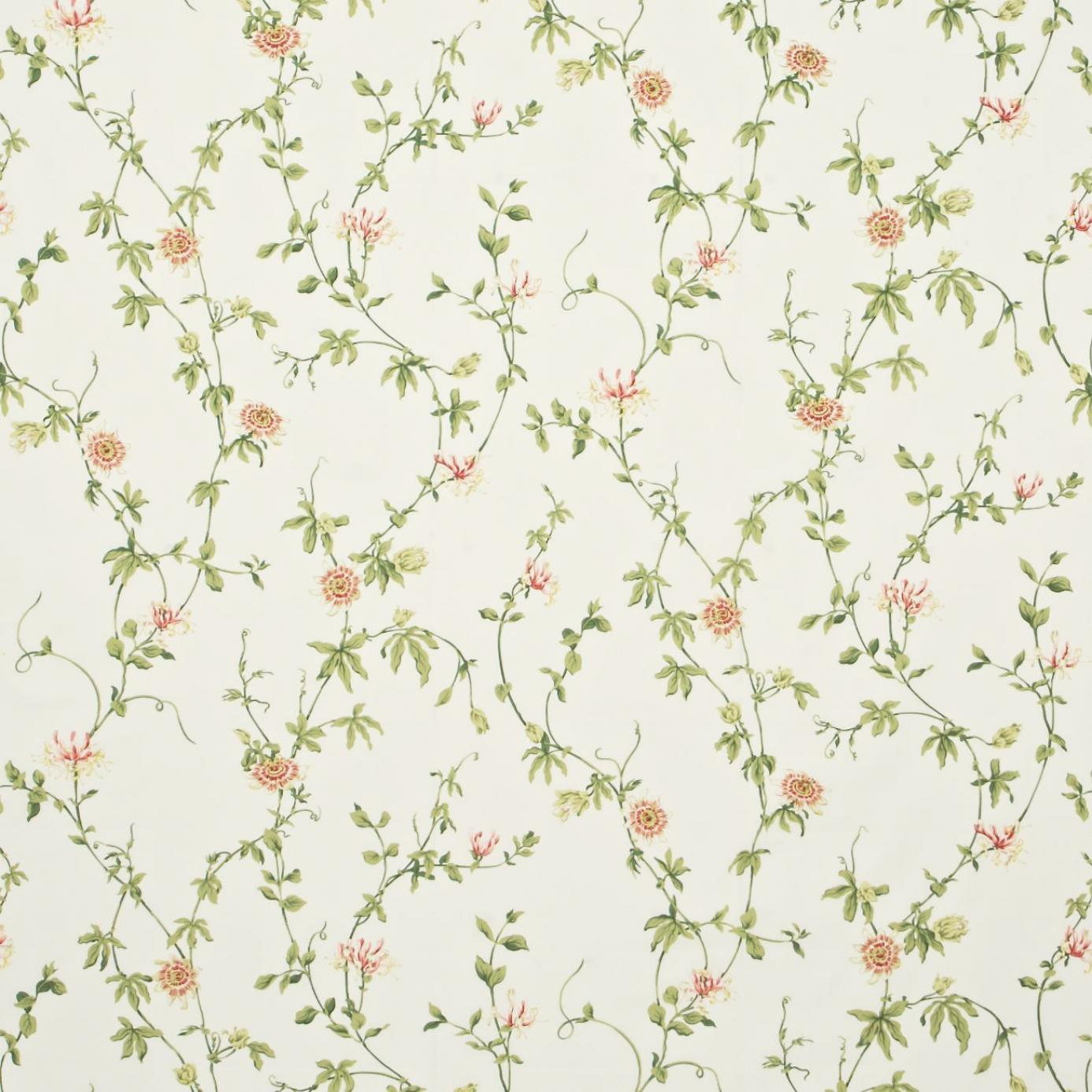 Passion Flower Fabric Ivory Pink Dpempf202 Sanderson