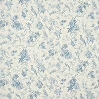 Pillemont Toile Fabric - Ivory/China Blue