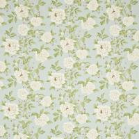 Peony Tree Fabric - Duckegg/Cream
