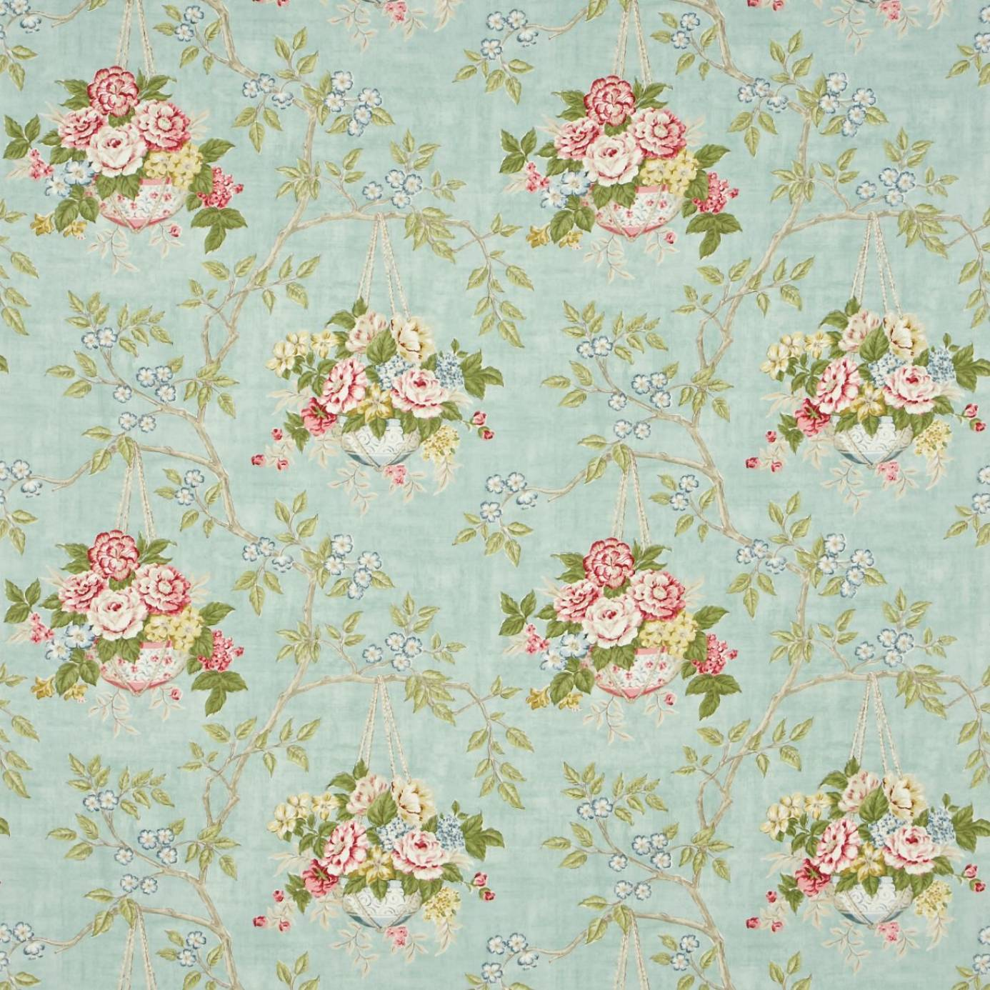 Willoughby Fabric French Blue Cranberry Dpemwi202
