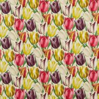 Early Tulips Fabric - Aubergine/Cherry