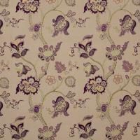Roslyn Embroidery Fabric - Mulberry/Linen