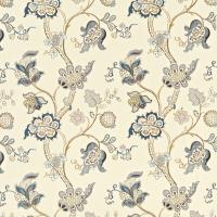 Roslyn Embroidery Fabric - Wedgewood/Cream