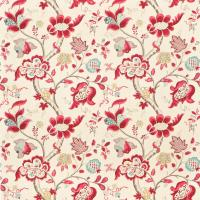 Roslyn Fabric - Berry/Slate