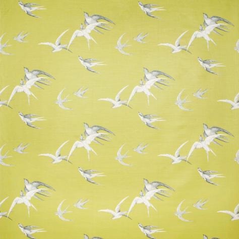 Sanderson Vintage Prints & Weaves Fabrics Swallows Fabric - Lime - DVIPSW201 - Image 1