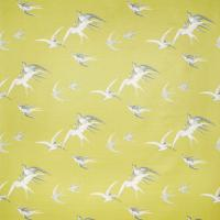 Swallows Fabric - Lime