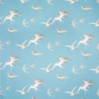 Swallows Fabric - Wedgewood