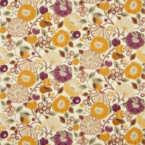 Sanderson Vintage Prints & Weaves Fabrics Tree Poppy Fabric - Damson/Gold - DVIPTR201/224441