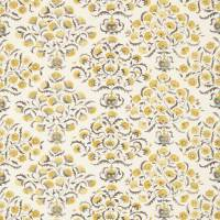 Ottoman Flowers Fabric - Charcoal/Linden