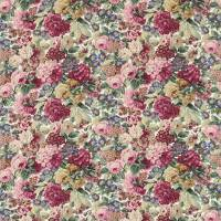 Rose & Peony Fabric - Red (Cotton)