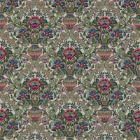 Cascacs Fabric - Biscuit/Leaf Green