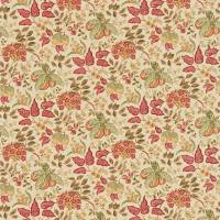 Madagascar Fabric - Gold/Red