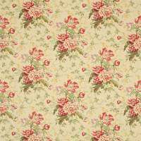 Alsace Fabric - Linen/Red