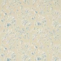Magnolia & Pomegranate Fabric - Parchment/Sky Blue