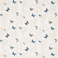 Wisteria & Butterfly Fabric - Cobalt/Chalk