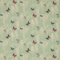 Wisteria & Butterfly Fabric - Seaspray/Multi