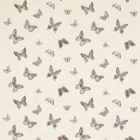 Butterfly Embroidery Fabric - Charcoal/Walnut