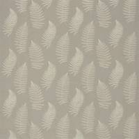 Fern Embroidery Fabric - Pebble