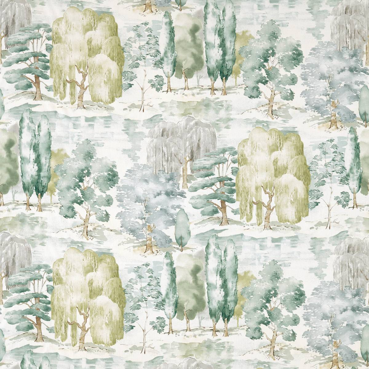 Sanderson Waterperry Prints & Embroideries Fabrics Waterperry Fabric - Mint - 226266. Loading zoom