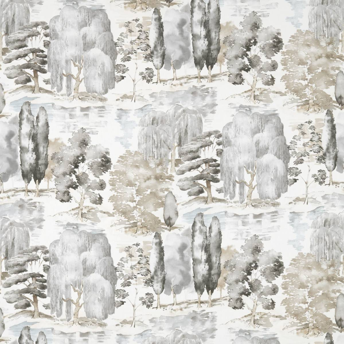 Sanderson Waterperry Prints & Embroideries Fabrics Waterperry Fabric - Charcoal - 226268. Loading zoom