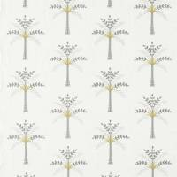 Palm Grove Fabric - Daffodil/Natural