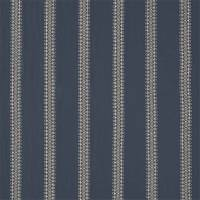 Burnett Stripe Fabric - Indigo