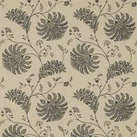Mapperton Fabric - Charcoal/Gold
