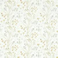 Summer Harvest Fabric - Silver/Corn