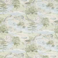Sea Houses Fabric - Tidewater Blue