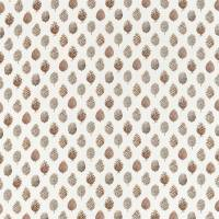 Pine Cones Fabric - Briarwood/Cream
