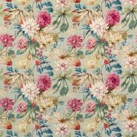 Dahlia & Rosehip Fabric - Mulberry/Grey