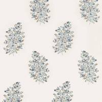Wendell Embroidery Fabric - Indigo/Wedgwood