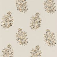 Wendell Embroidery Fabric - Honey/Grey