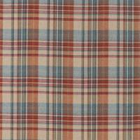Bryndle Check Fabric - Russet/Amber