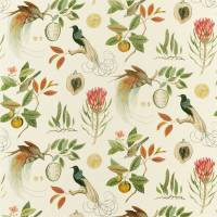 Paradesia Fabric - Orange / Olive