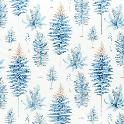 Sanderson Glasshouse Fabrics Fernery Fabric - China Blue - 226580