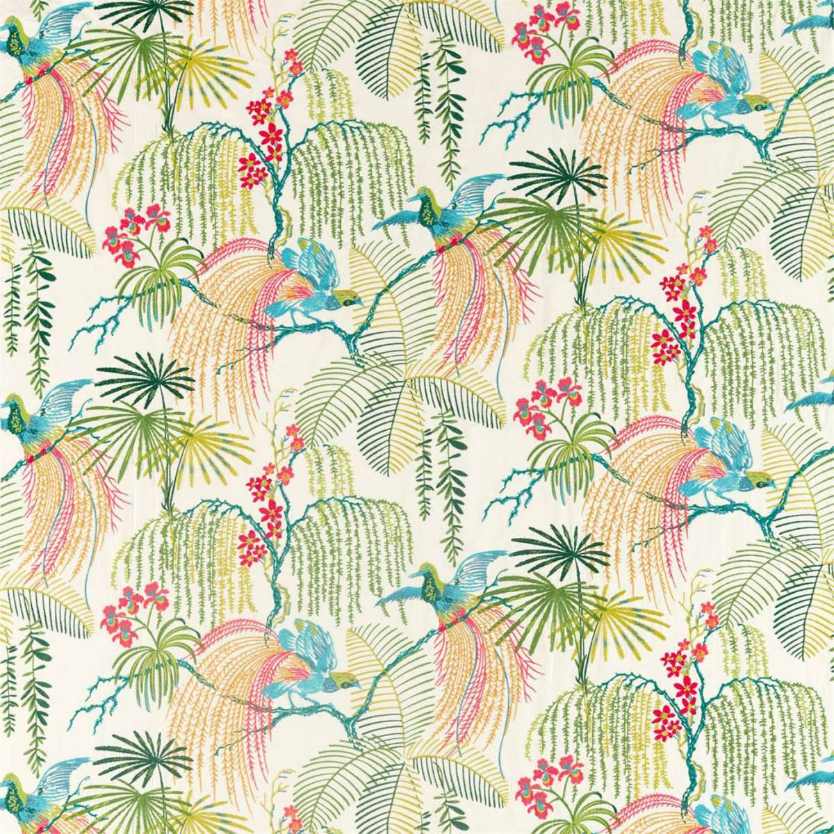 Rain Forest Embroidery Fabric - Tropical (236777 ...