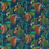 Rain Forest Embroidery Fabric - Tropical Night