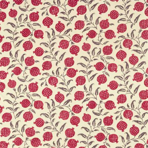 Sanderson Caspian Prints and Embroideries Anaar Fabric - Tyrian Cherry - 226626 - Image 1