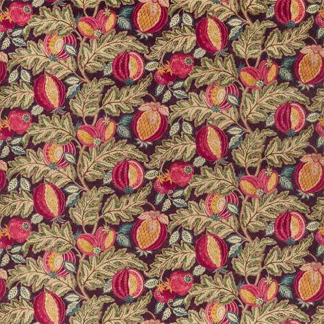 Sanderson Caspian Prints and Embroideries Cantaloupe Fabric - Cherry / Alabaster - 226635 - Image 1