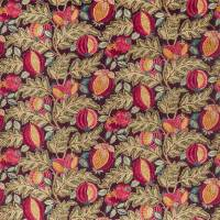 Cantaloupe Fabric - Cherry / Alabaster