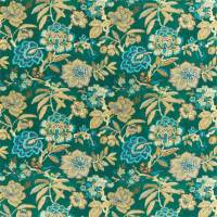 Indra Flower Fabric - Emerald