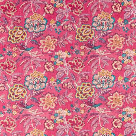 Sanderson Caspian Prints and Embroideries Indra Flower Fabric - Hibiscus - 226641