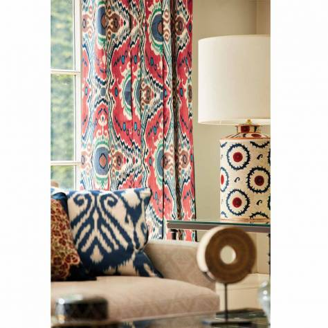 Sanderson Caspian Prints and Embroideries Niyali Fabric - Nettle / Sumac - 226649