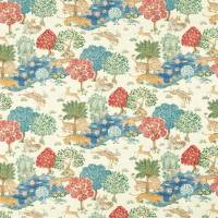 Pamir Garden Fabric - Cream / Indigo