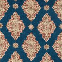 Siam Diamond Fabric - Cobalt / Flame