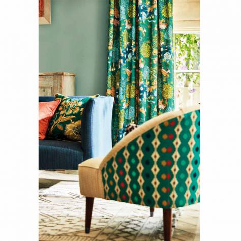 Sanderson Caspian Prints and Embroideries Mossi Fabric - Sage - 236889 - Image 2