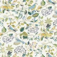 Birds and Berries Fabric - Southwold Blue